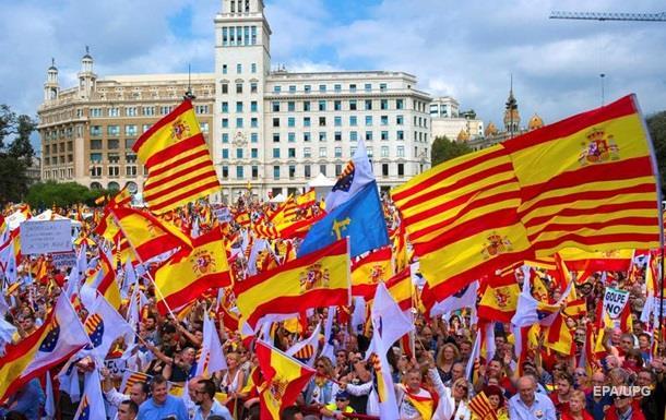 У Барселоні мітингували за єдність з Іспанією