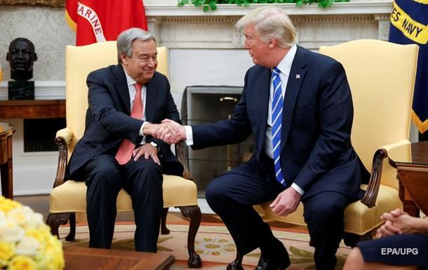 Трамп провел встречу с генсеком ООН