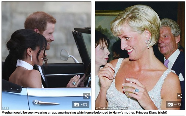 Принц Гарри подарил Меган Маркл кольцо Дианы 1