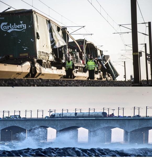 """Результат пошуку зображень за запитом """"крушения поезда на мосту в Дании"""""""