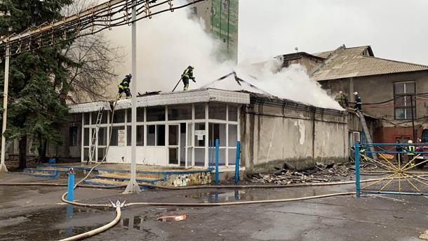 В Донецкой области масштабный пожар на шахте