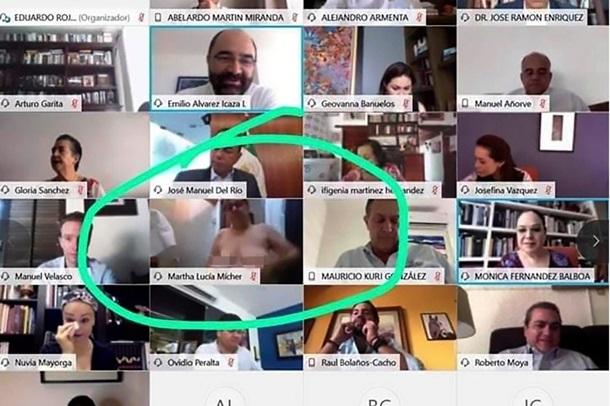 Политик оголила грудь на совещании по видеосвязи. ФОТО