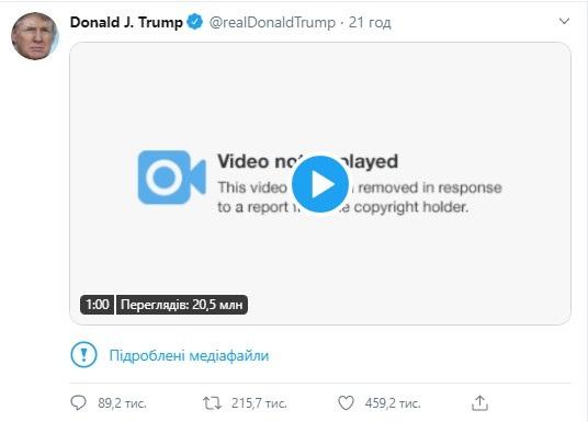 Twitter отметил очередной пост Трампа как фейк