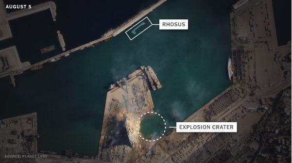 Судно, що привезло в Бейрут селітру, затонуло в порту - ЗМІ
