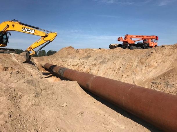 Поврежденный под Киевом газопровод восстановили