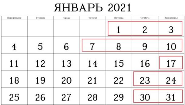 Новый год: сколько украинцы будут отдыхать в январе