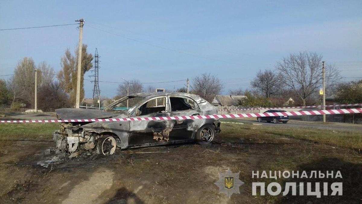 На Харьковщине мужчина сгорел в автомобиле