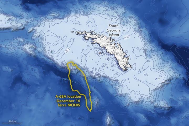 Ученые показали, как потепление разрушило крупнейший в мире айсберг. Фото