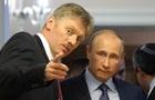 Пєсков розповів про дзвінки про вибухи на шляху кортежу Путіна