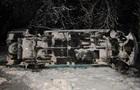В Луганской области перевернулся пассажирский микроавтобус