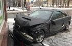 В Киеве BMW остановила стена ПриватБанка
