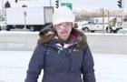 Ведучій перед самим ефіром кинули сніжку в обличчя