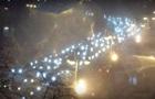 Киев остановился в пробках из-за непогоды