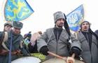 День соборности: флаги Украины у Крыма и Луганска