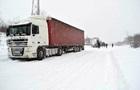 На трассе Киев-Харьков заторы из-за снегопада