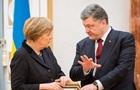 Порошенко обсудил с Меркель реализацию минских соглашений