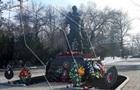 В Луганске появился памятник  добровольцам  из РФ