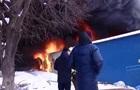 В Черновцах вспыхнул масштабный пожар