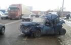 В Харькове водитель фуры разбил шесть автомобилей