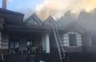 Под Киевом загорелся ресторанный комплекс