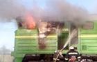 В Кировоградской области горел дизельный тепловоз