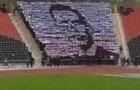 В ДНР школьников учат выкладывать портрет Захарченко на трибуне стадиона