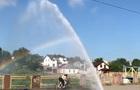 В Кропивницком несколько часов из-под земли бил 10-метровый  фонтан