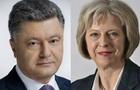 Порошенко і Мей обговорили посилення тиску на РФ