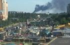 У Вишневому під Києвом велика пожежа, горить склад