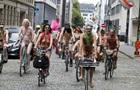 У Брюсселі протестували голі велосипедисти