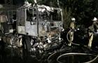 В Харькове сгорел грузовик