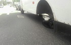У Полтаві в маршрутки на ходу відпали колеса