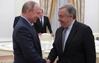 В Кремле рассказали о переговорах Путина с главой ООН