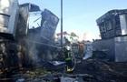 В Киеве сгорело несколько киосков