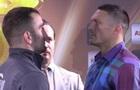 Усик - Гассиев: боксеры провели битву взглядов