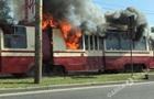 В Одесі загорівся трамвай
