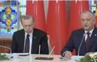 Ердоган заснув під час промови президента Молдови