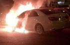 В Ужгороді горіло авто екс-начальника відділення ДАІ - ЗМІ