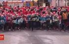 В Германии забег Санта-Клаусов сняли на видео