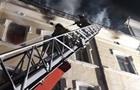 В центре Черновцов всю ночь тушили пожар