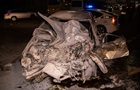 У Києві зіткнулися чотири авто, одне загорілося