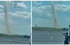 Возле Одесского аэропорта зафиксировали смерч