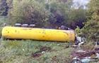 У Тернопільській області перекинулася цистерна з газом