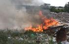 Під Харковом майже добу гасили пожежу на звалищі