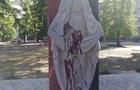 Під Житомиром облили фарбою новий пам ятник захисникам України