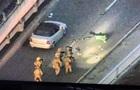 З явилося відео затримання  мінера  моста в Києві