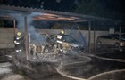 В Днепре на парковке дотла сгорели два авто