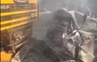 Масштабное ДТП под Киевом: столкнулись семь авто