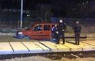 Во Львове пьяный водитель застрял в свежем бетоне