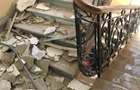 З явилося відео обвалення стелі на поліцейських в Одесі